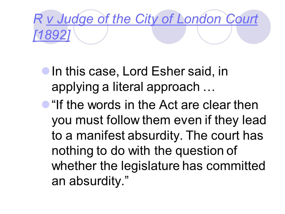 R v Judge of the City of London Court [1892]